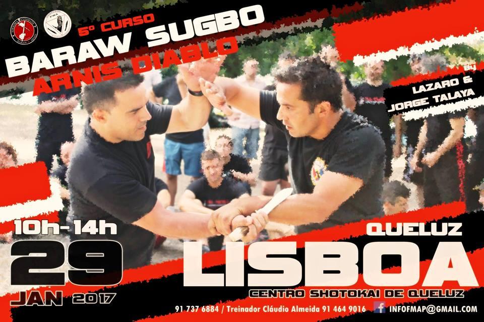 Curso Baraw Sugbo / Arnis Diablo – Lisboa / Jan.2017