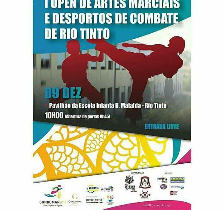 I OPEN de artes marciais e desportos de combate de Rio Tinto – FMA-P participa
