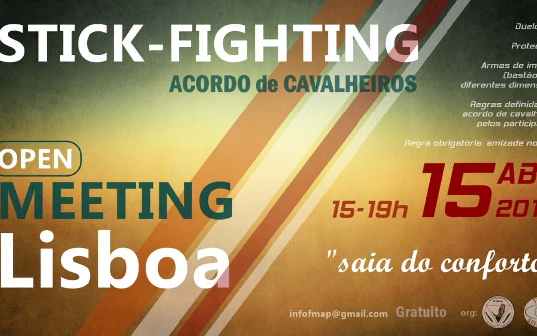 Stick-fighting – Acordo de cavalheiros – Open meeting de LISBOA