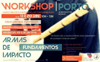 Fundamentos – combate com armas de impacto – workshop no Porto