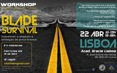 Workshop – sobreviver a armas brancas – LISBOA – Abril 2018